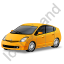 Hybrid Car Yellow Icon