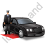 Luxury Car Driver Black Icon, PNG/ICO, 64x64