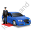 Luxury Car Driver Blue Icon