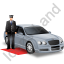 Luxury Car Driver Grey Icon