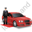 Luxury Car Driver Red Icon