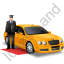 Luxury Car Driver Yellow Icon