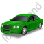 Luxury Car Green Icon
