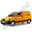 Panel Van Yellow Icon, PNG/ICO, 64x64