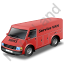Service Van Red Icon, PNG/ICO, 64x64