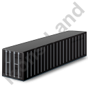 40ft Container Black Icon
