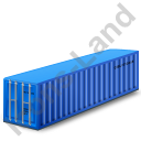 40ft Container Blue Icon