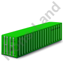 40ft Container Green Icon