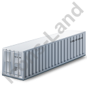 40ft Container Grey Icon