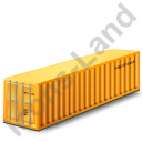 40ft Container Yellow Icon