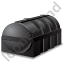 Domestic Oil Tank Black Icon, PNG/ICO, 128x128