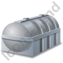 Domestic Oil Tank Grey Icon