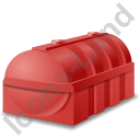 Domestic Oil Tank Red Icon, PNG/ICO, 128x128