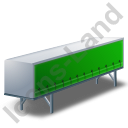 Swap Curtain Side Container Green Icon, PNG/ICO, 128x128
