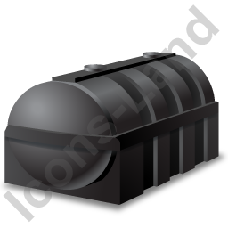 Domestic Oil Tank Black Icon, PNG/ICO, 256x256