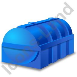 Domestic Oil Tank Blue Icon