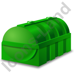 Domestic Oil Tank Green Icon