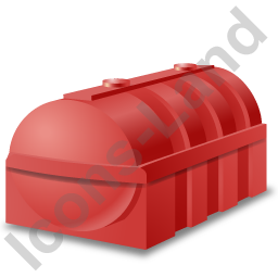 Domestic Oil Tank Red Icon, PNG/ICO, 256x256