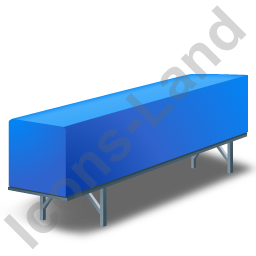 Swap Container Blue Icon, PNG/ICO, 256x256