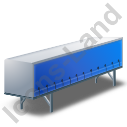 Swap Curtain Side Container Blue Icon, PNG/ICO, 256x256