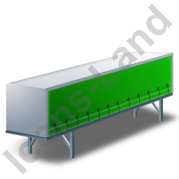 Swap Curtain Side Container Green Icon