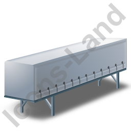 Swap Curtain Side Container Grey Icon, PNG/ICO, 256x256