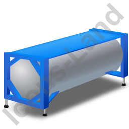 Swap Tank Container Blue Icon, PNG/ICO, 256x256