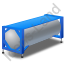 Swap Tank Container Blue Icon, PNG/ICO, 64x64
