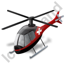 Air Ambulance Black Icon