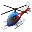 Air Ambulance Blue Icon, PNG/ICO, 128x128