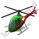 Air Ambulance Green Icon, PNG/ICO, 128x128