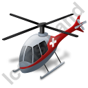 Air Ambulance Grey Icon, PNG/ICO, 128x128