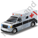 Ambulance Black Icon, PNG/ICO, 128x128