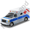 Ambulance Blue Icon, PNG/ICO, 128x128