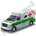 Ambulance Green Icon, PNG/ICO, 128x128