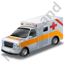 Ambulance Yellow Icon, PNG/ICO, 128x128