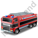 Fire Truck Black Icon