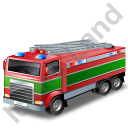 Fire Truck Green Icon