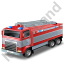 Fire Truck Grey Icon, PNG/ICO, 128x128