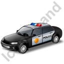Police Car Black Icon