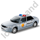 Police Car Grey Icon