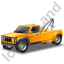 Tow Truck Yellow Icon, PNG/ICO, 128x128
