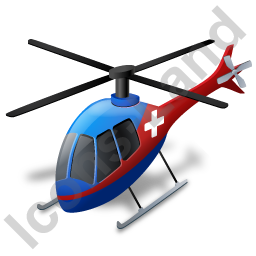Air Ambulance Blue Icon