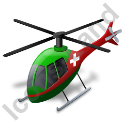 Air Ambulance Green Icon, PNG/ICO, 256x256