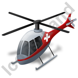 Air Ambulance Grey Icon, PNG/ICO, 256x256