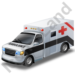 Ambulance Black Icon, PNG/ICO, 256x256