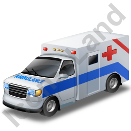 Ambulance Blue Icon, PNG/ICO, 256x256