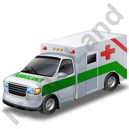 Ambulance Green Icon, PNG/ICO, 256x256