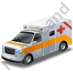 Ambulance Yellow Icon, PNG/ICO, 256x256