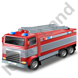 Fire Truck Grey Icon, PNG/ICO, 256x256